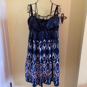Ted Baker Floral Silk Spaghetti Strap Dress